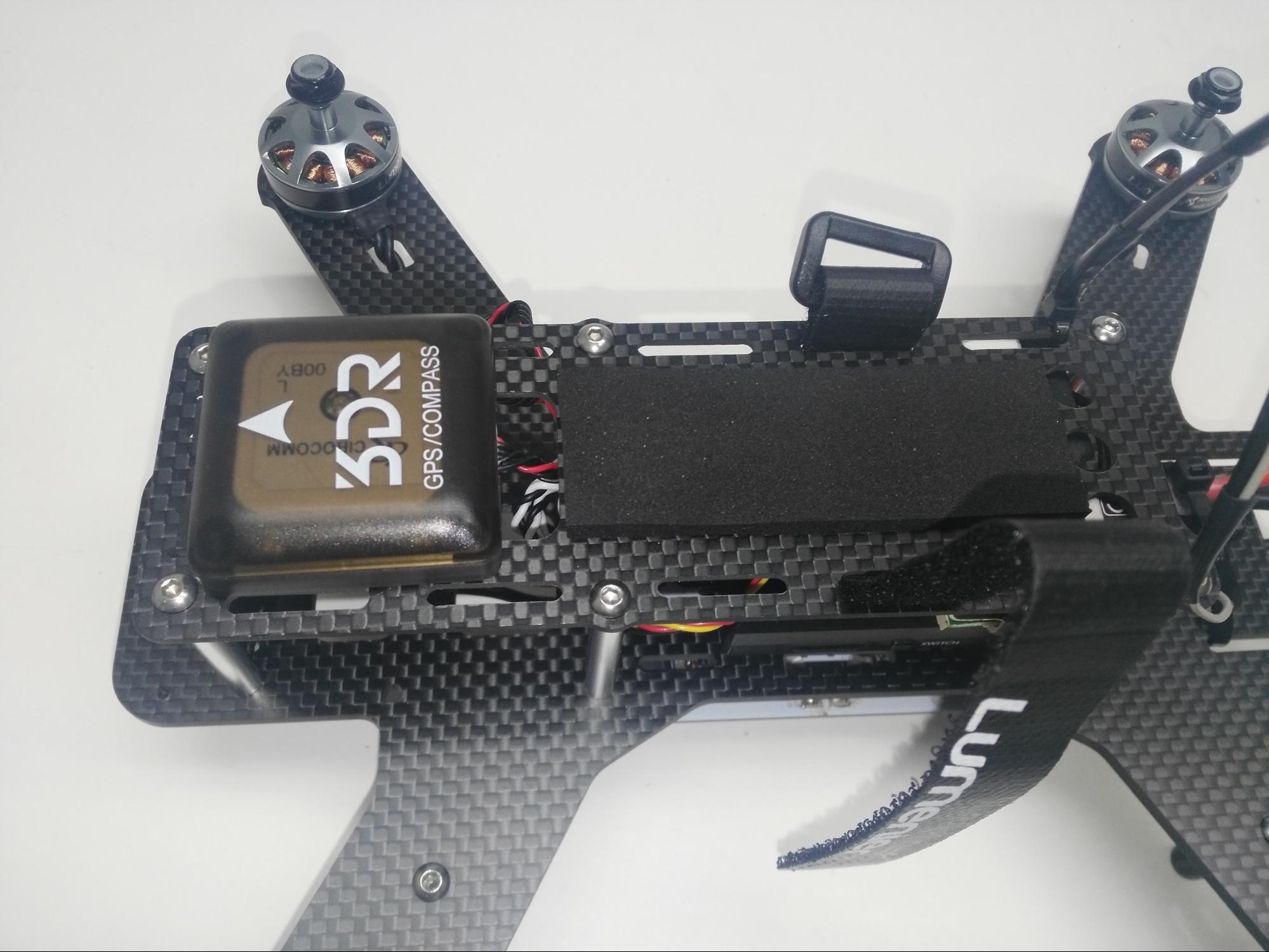 QAV250 with battery foam and velcro strap