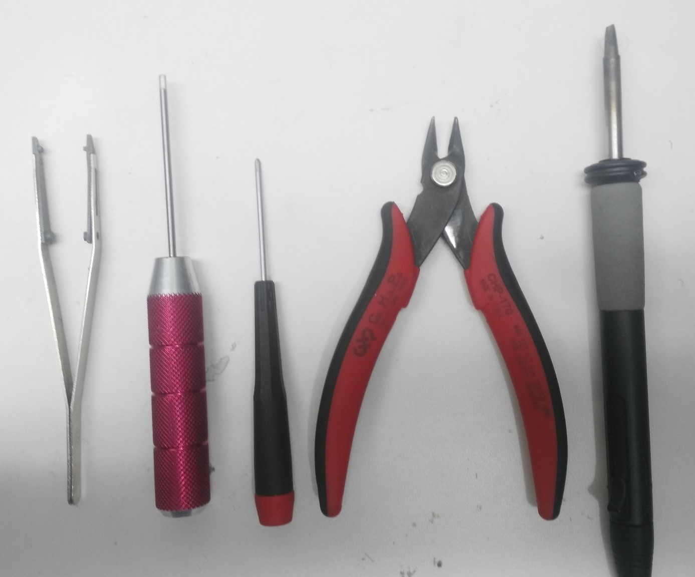 Tools required for assembling QAV250