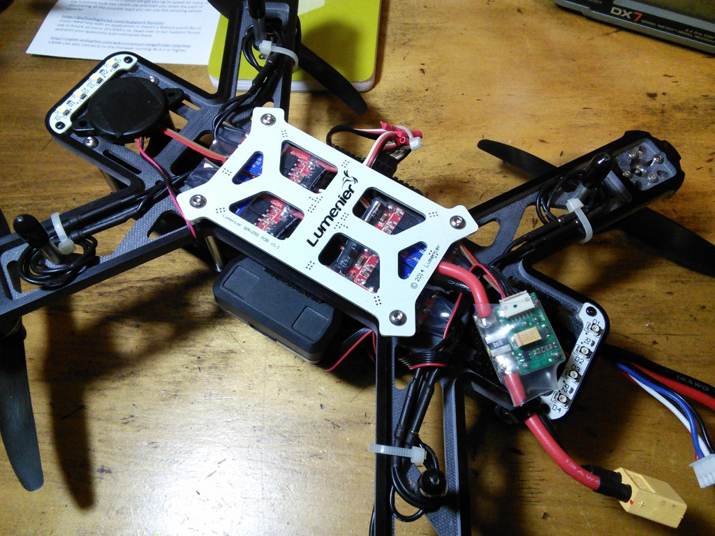 QAV250 Pixhawk Build showing power module