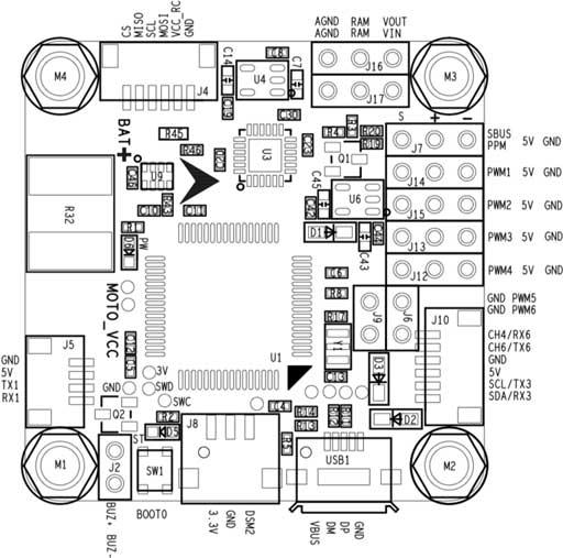 Omnibus F4 Pro Wiring Diagram from docs.px4.io