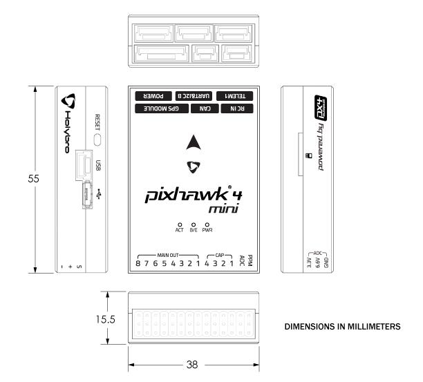 Holybro Pixhawk 4 Mini · PX4 v1 9 0 User Guide