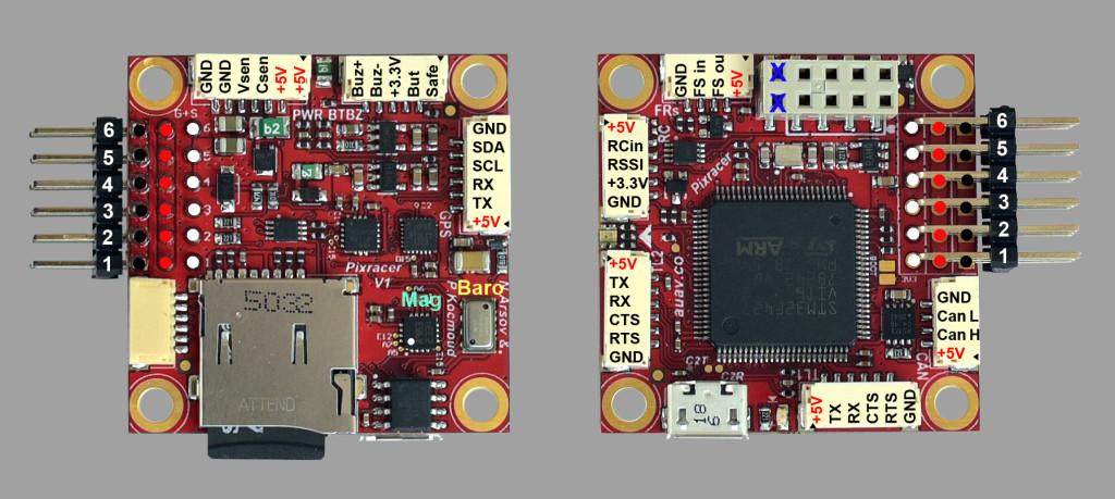 Pixracer Wiring Quickstart · PX4 v1 9 0 User Guide