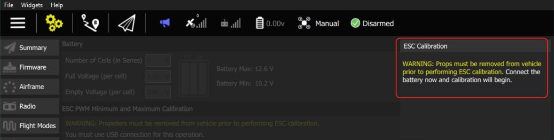 ESC Calibration · PX4 v1 9 0 User Guide