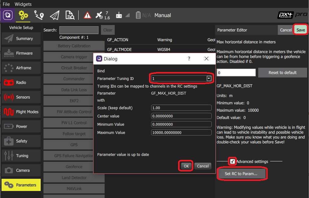 Radio Setup · PX4 v1 9 0 User Guide